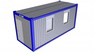 Typ B - Bürocontainer mit Windfang