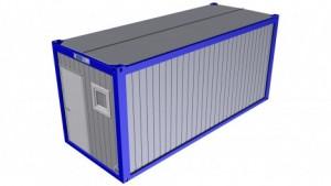 Containertypen - Typ E - Bürocontainer mit Toalete und Dusche 1