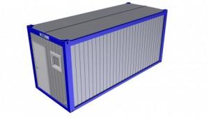Containertypen - Typ D - Bürocontainer mit Toalete 1