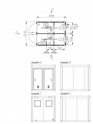 Containertypen - Typ K - Sanitärcontainer 2