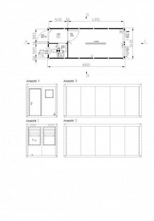 Containertypen - Typ D - Bürocontainer mit Toalete 2