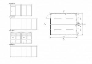 Containertypen - Typ M - Bürocontainer - Duoanlage 2