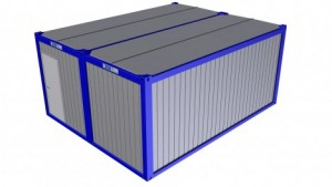 Containertypen - Typ N - Bürocontainer mit Windfang - Duoanlage 2