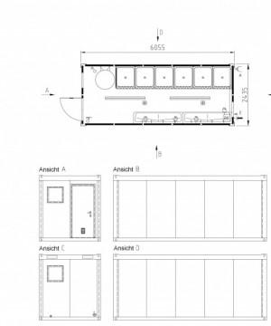 Containertypen - Typ H - Sanitärcontainer 2